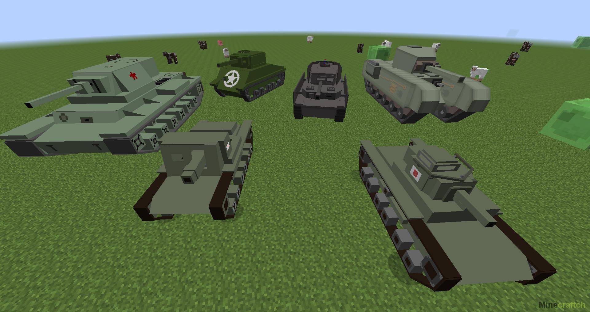 мод на майнкрафт 1.7.10 танки #9