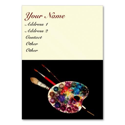 Colour Palette Painter Artist Fine Art Materials Business Card Templates Art Business Cards Art Materials Visiting Card Design