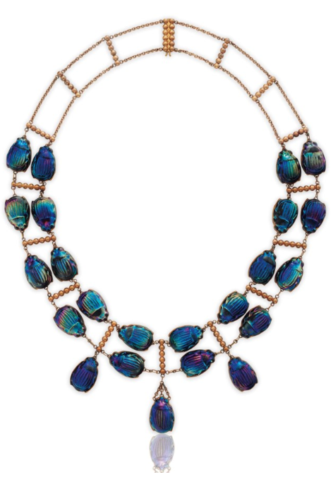 Louis Comfort Tiffany 1848 1933 1910 Iconic Favrile Glass Beetle Gold Necklace Tiffany Co Tiffany Jewelry Jewelry Louis Comfort Tiffany