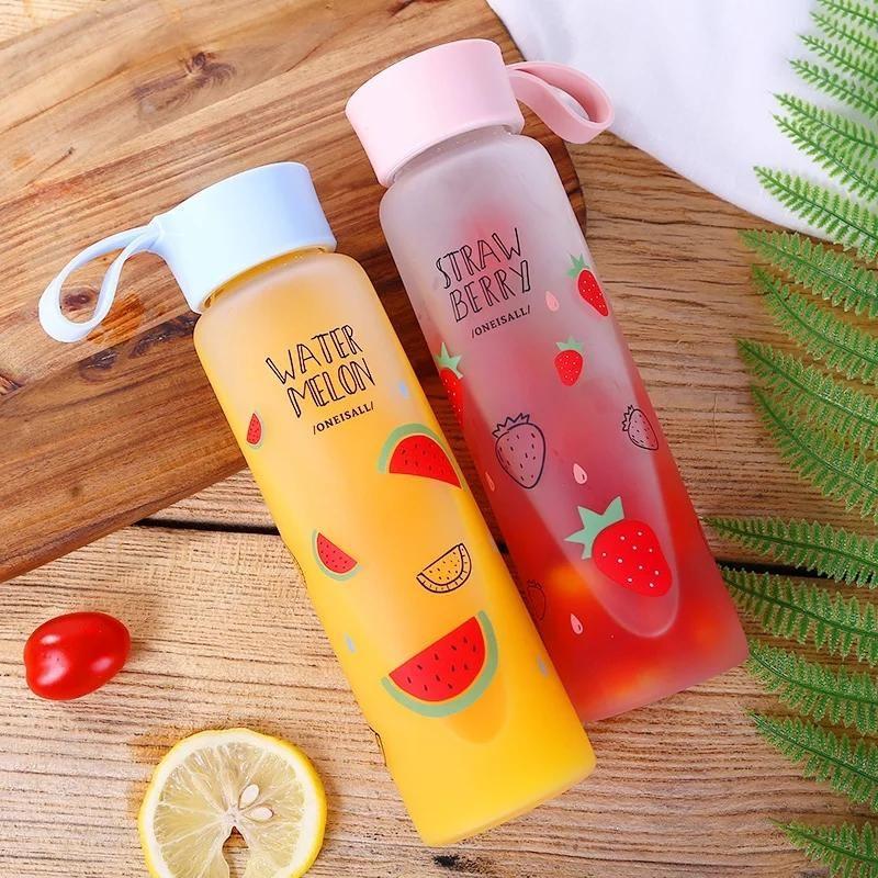 Sweet Fruit Water Bottle In 2020 Fruit Water Bottle Cute Water