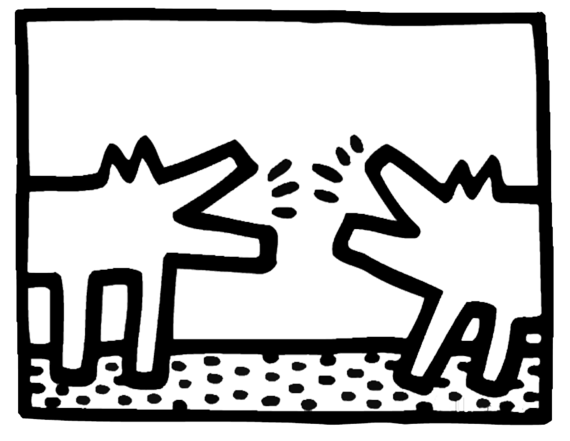Keith Haring For Kids Artprints To Color Pop Art Paintings