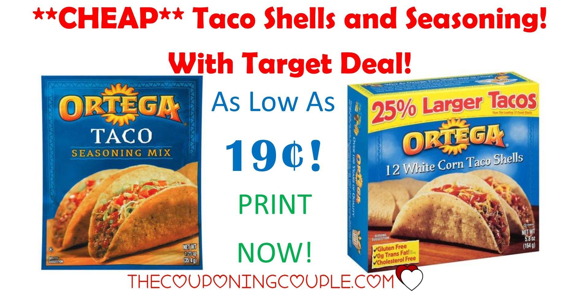 Target Deals Ortega Taco Seasoning 0 21 Taco Shells 0 75 Ortega Taco Seasoning Taco Seasoning Taco Stuffed Shells