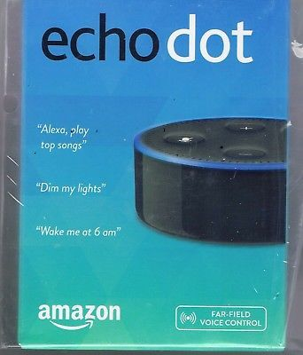 brand new amazon echo dot 2nd generation w alexa voice media device