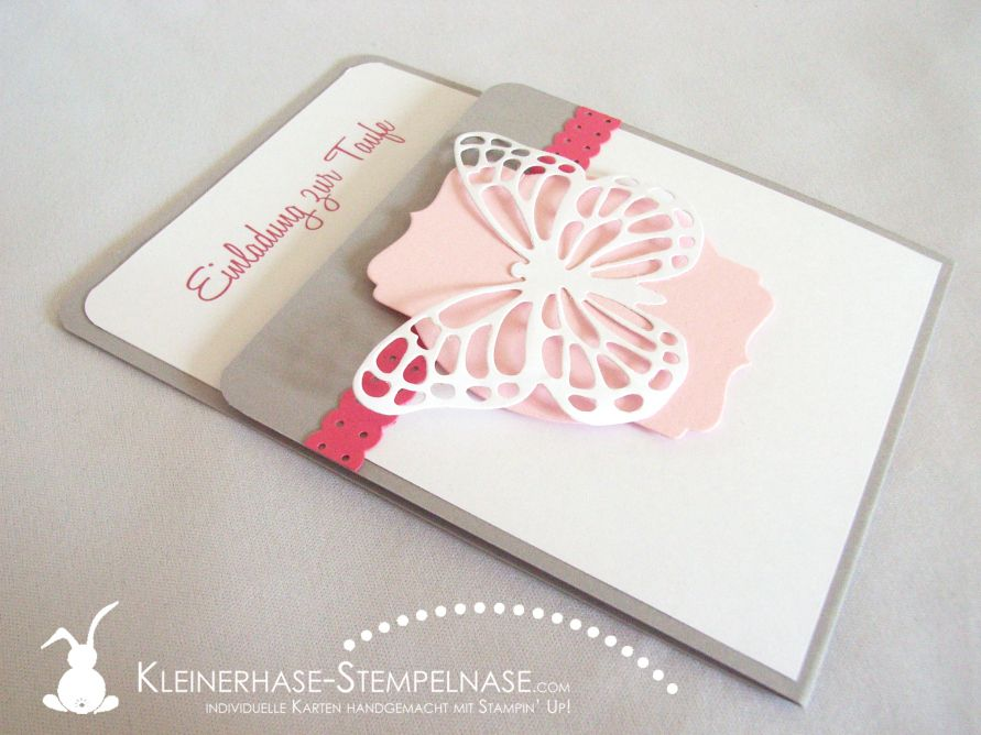 Stampin Up Einladung Taufe Butterfly Schmetterling 03