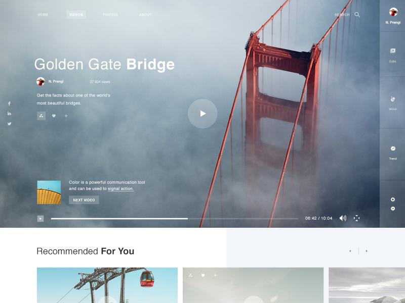 Video Hosting Beautiful Website Design Web Layout Design Web Design