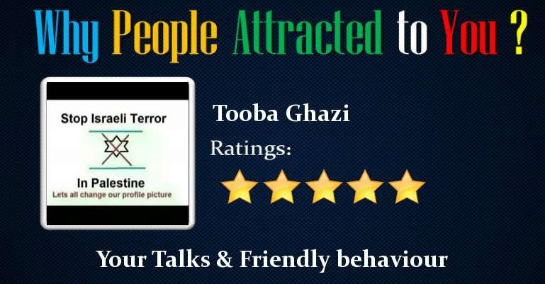 Check my results of Why People attracted to You? Facebook