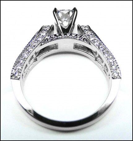 Horseshoe Shaped Wedding Rings