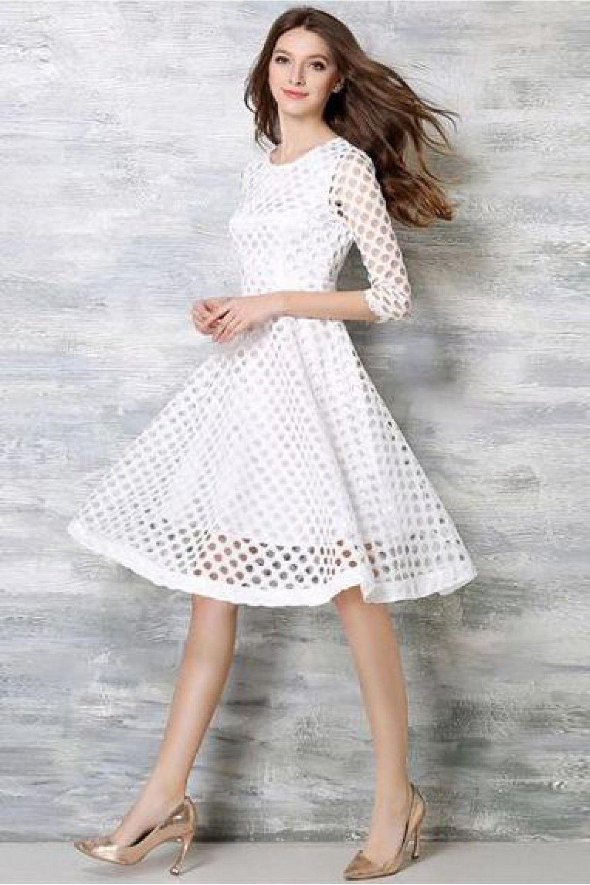 Lace Western Wear Dress In White Colour Western Wear Dresses Designer White Dresses Long Sleeve Boho Dress [ 1799 x 1200 Pixel ]