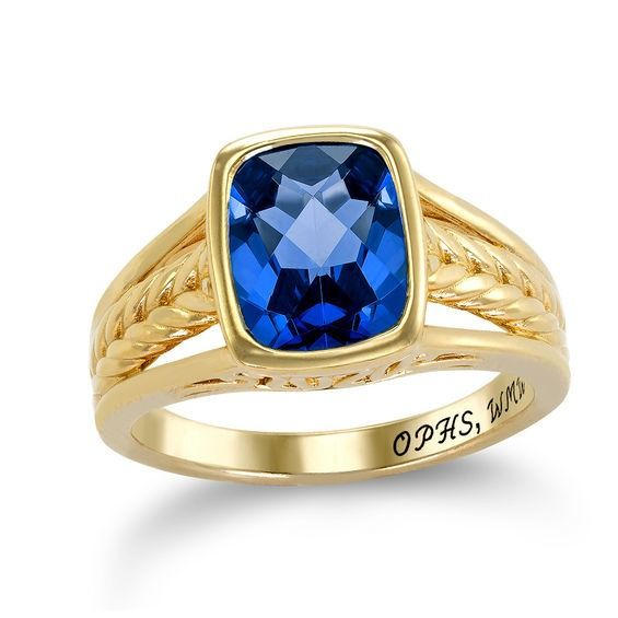 Zales Simulated Birthstone and Cubic Zirconia Ring by ArtCarved in Sterling Silver with 10K Gold Plate (4 Stones and Lines) avNLqrG1h