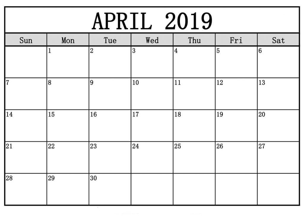 Free April 2020 Printable Calendar Word Pdf With Holidays
