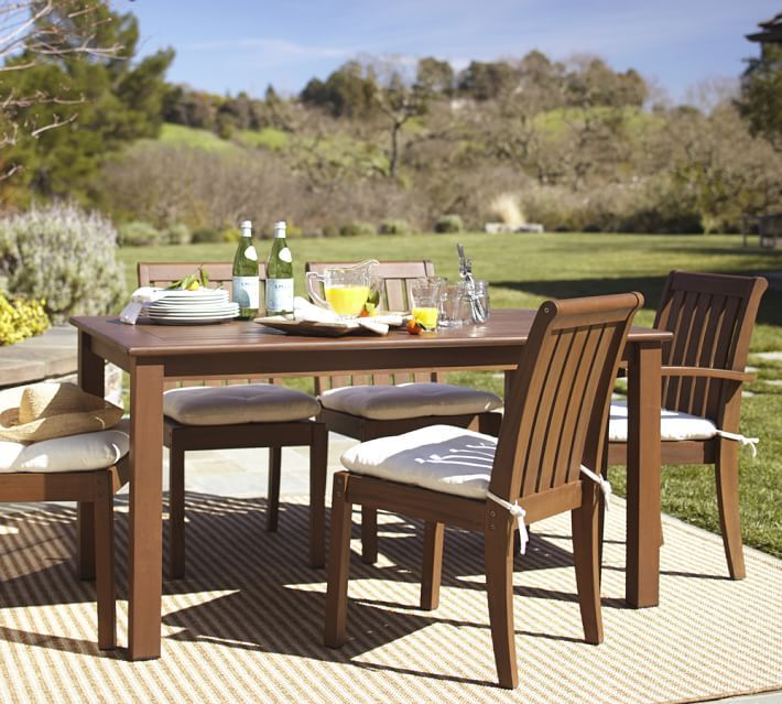 Chatham Fixed Dining Table Chair Set Honey