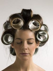 how to use velcro rollers for bangs