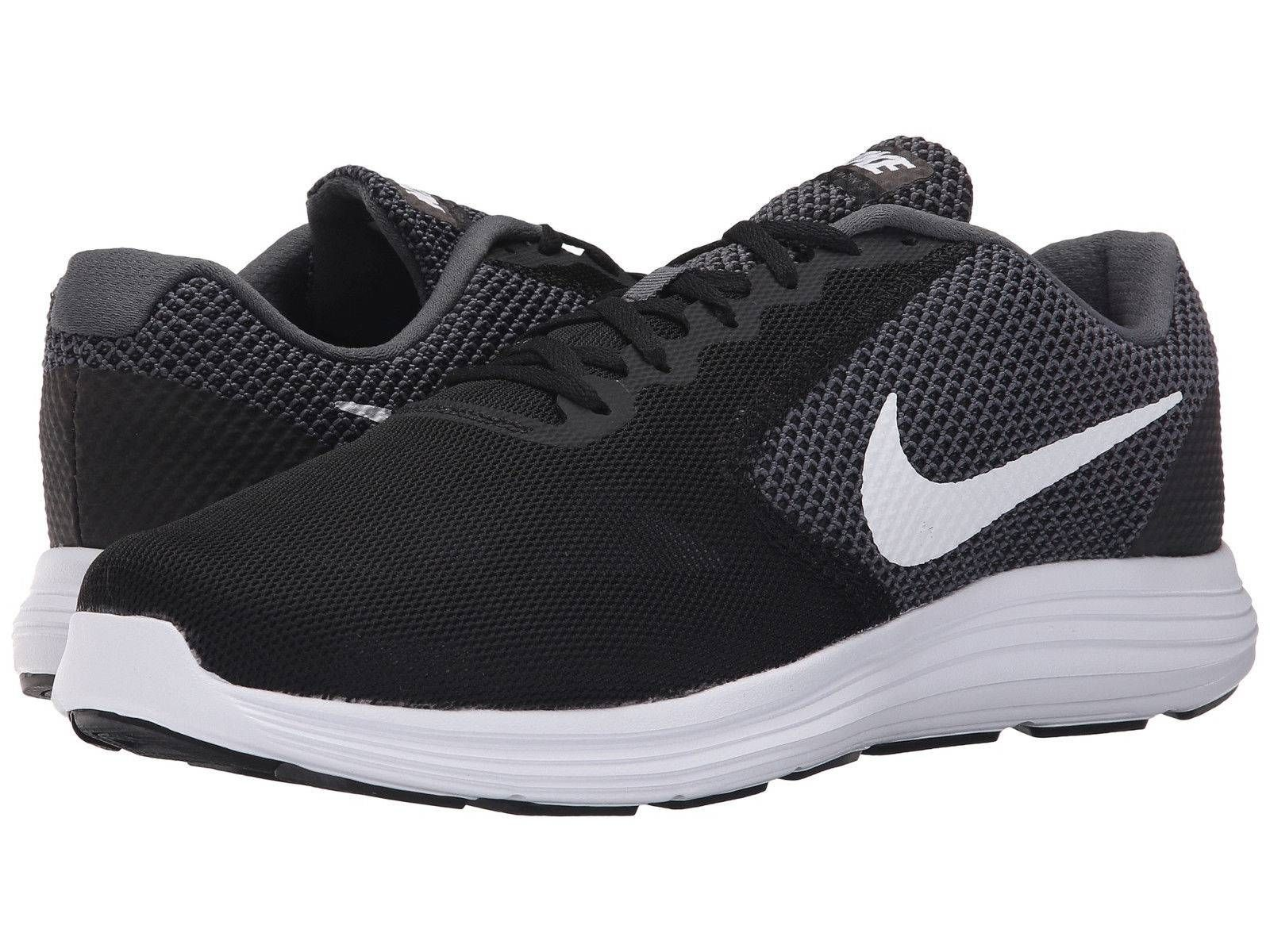 hot sale online b07f8 8cbf1 awesome Nike REVOLUTION three Mens Black White 001 Athletic ...