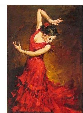 Painted flamenco dan