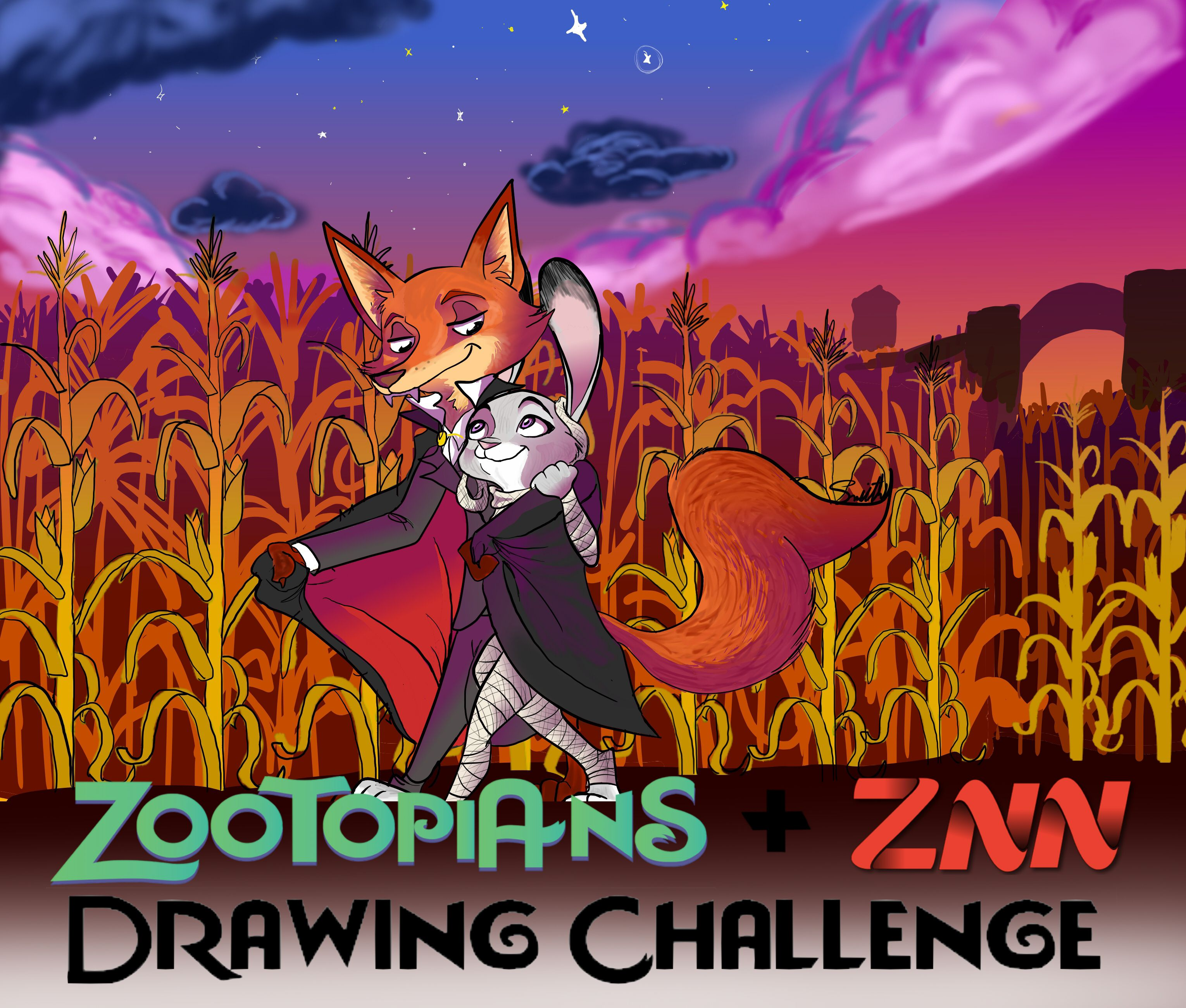 Znn And Zootopians Present The Halloween Drawing Contest Zootopia