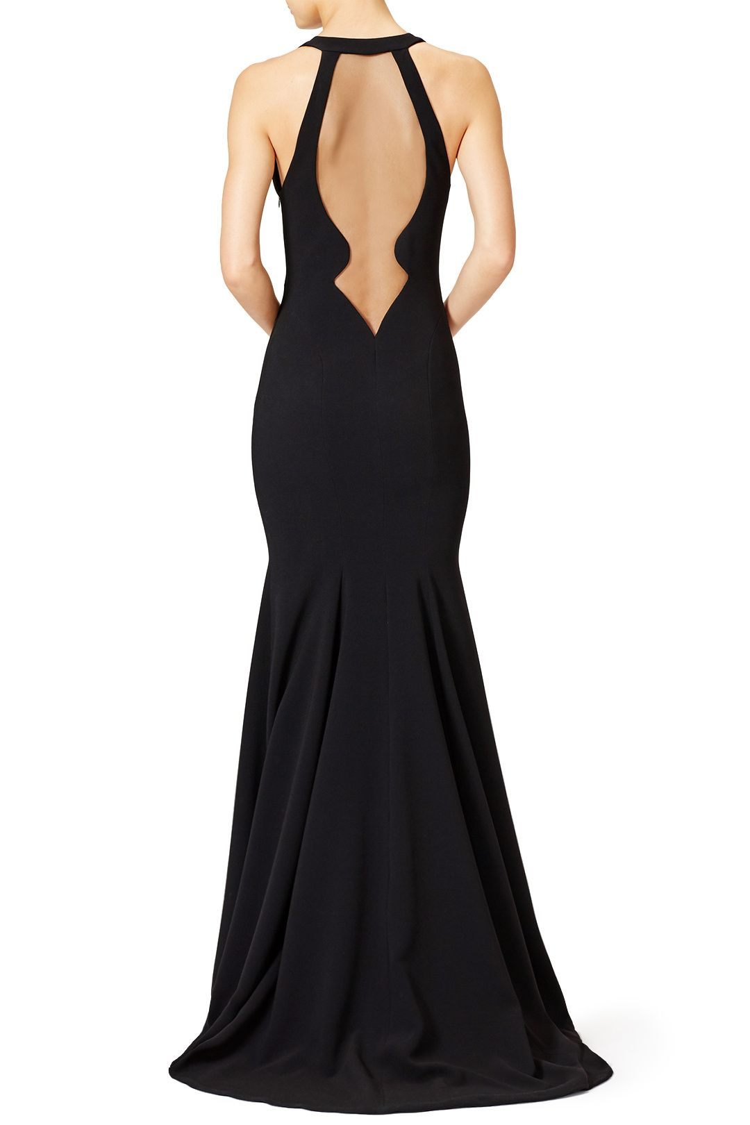 5408dfb4741 Black Matte Dress by Theia. I get to wear this to a wedding this weekend!!