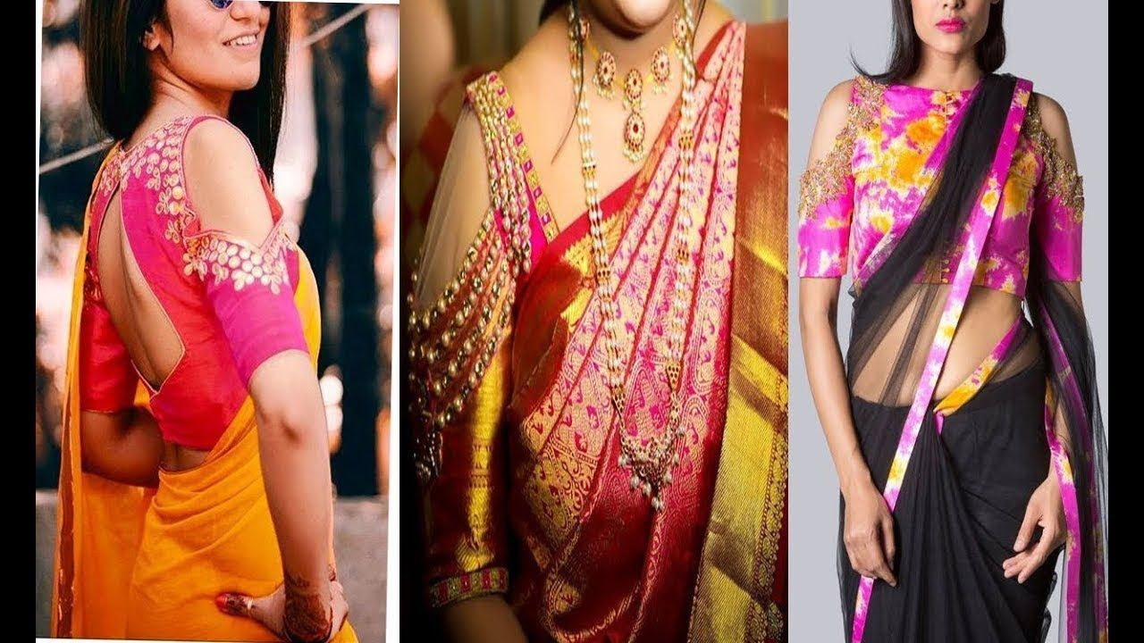 Latest Shoulder Cut Blouse Design Collection  Shoulder Cut Blouse Design  Stylish Blouse Design 2020 #blousedesignslatest