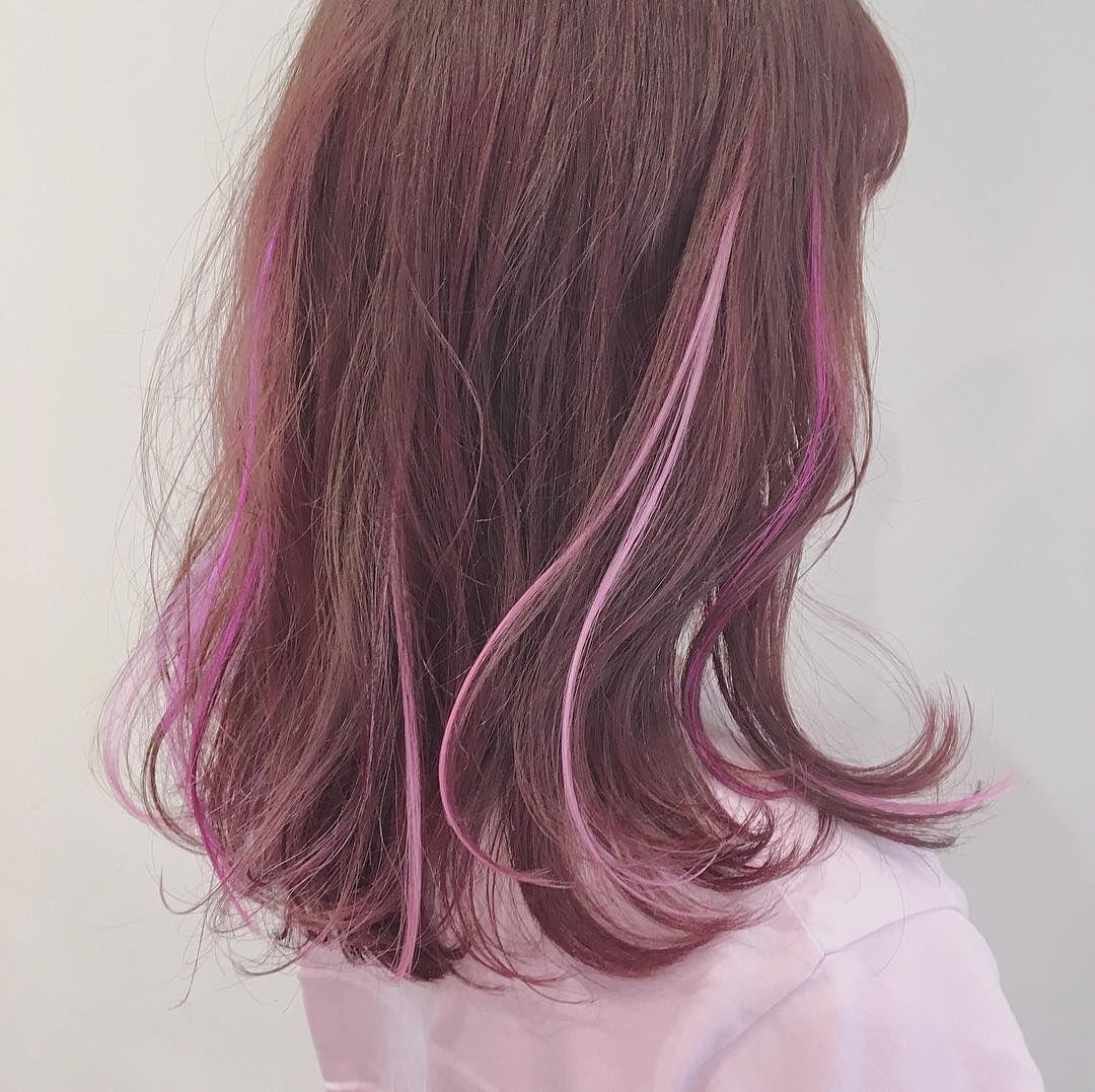 上野恵麻 ハイトーン エクステ ピンクヘア On Instagram Pink