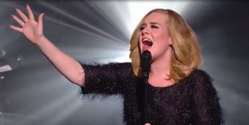 """This evening, Adele gave her first live performance in over two years at France'sNRJ Music Awards. The UK songstress debuted her glorious new single """"Hello""""..."""