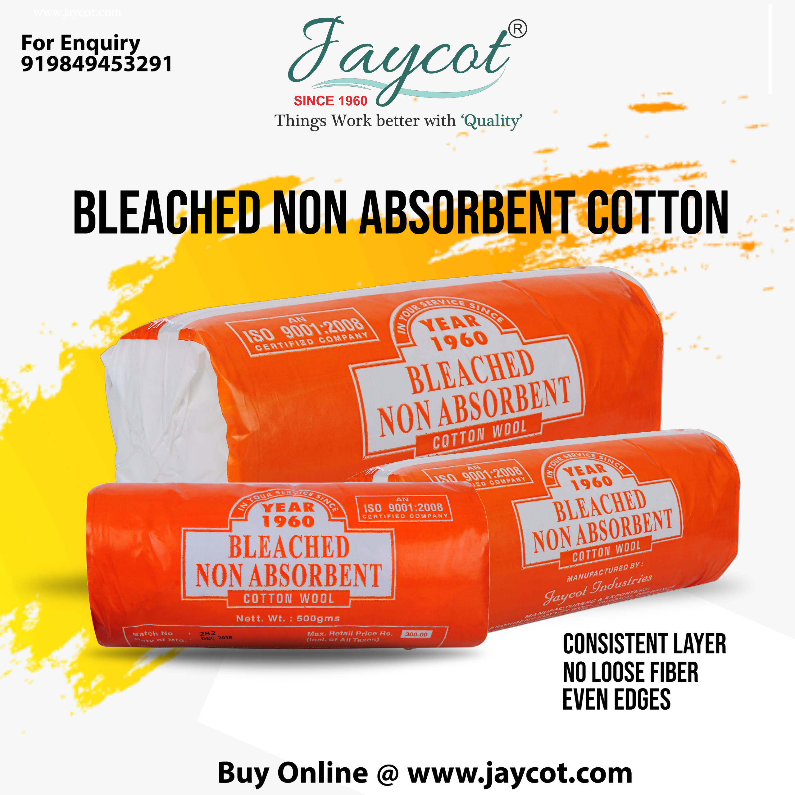 Bleached Non Absorbent Cotton Wool Manufacturers Suppliers