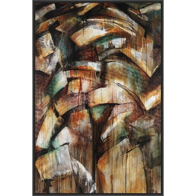 PTM Images Piling up Framed Painting Print on Canvas