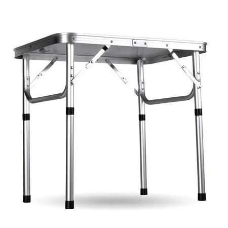 Folding Table Adjustable Height Aluminum Camping Table