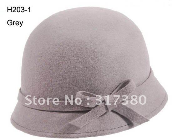 9ca5cdb47b7 (And even the bow is crisp.) Wholesale Mix 6 Models Formal Women Wool  Fishing Derby Bucket Hats Cloche Felt Hats Bowler Hats Spring Winter Fall  ...