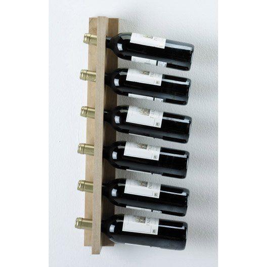 Casier De 6 Bouteilles En Pin Brut Casier A Bouteille Range