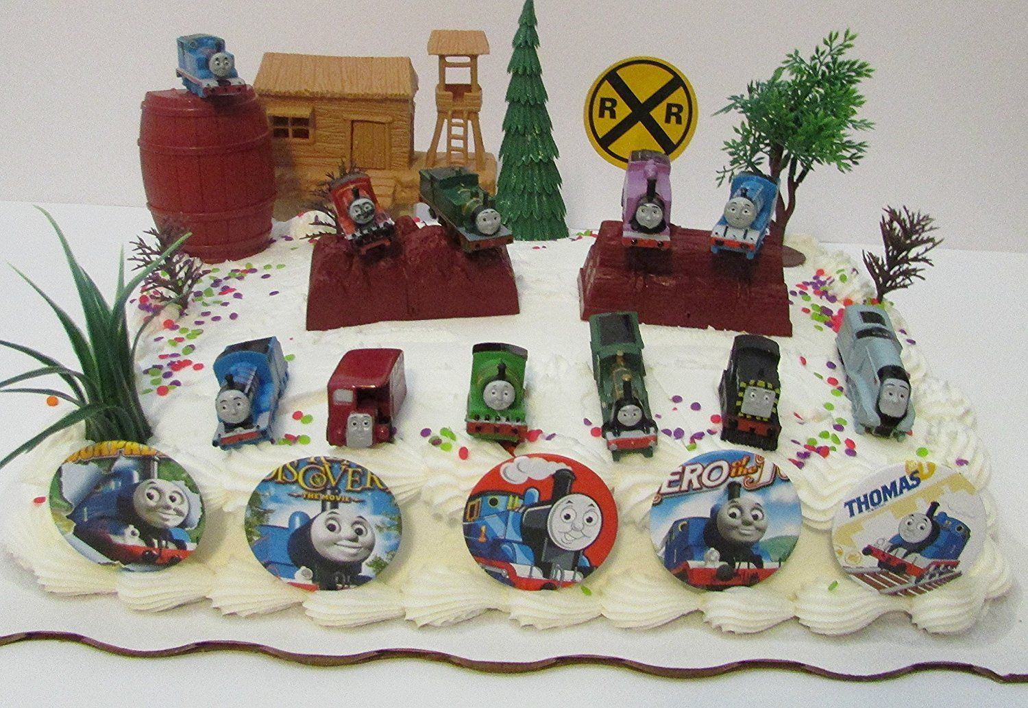 Thomas the Train Birthday Cake Topper Set Featuring Thomas Hiro
