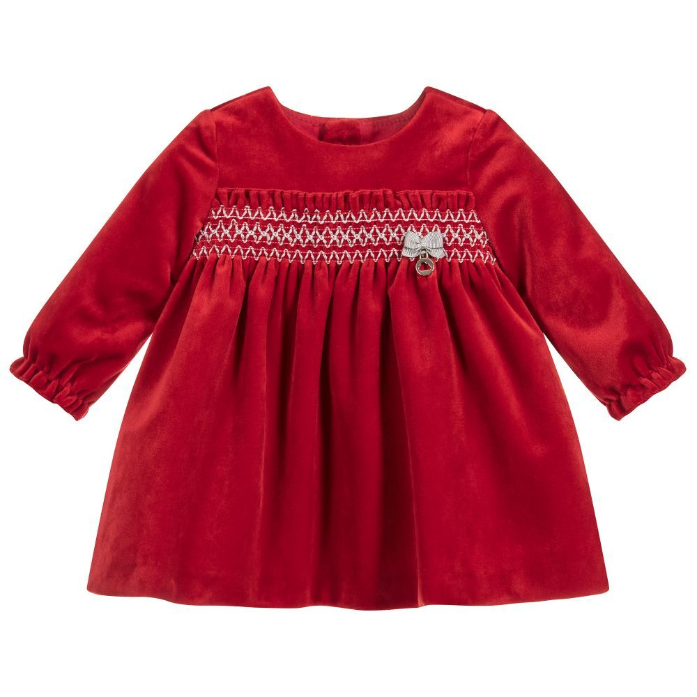 372ba4a43 Baby Girls Red Velvet Dress for Girl by Mayoral Newborn. Discover ...