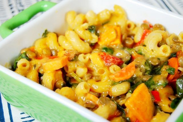 lentil veggie mac and cheese