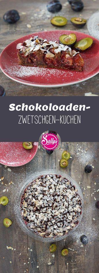 Schokoladen-Zwetschgen-Kuchen mit Tonkabohne