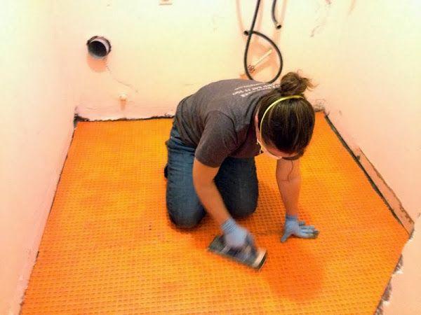 How To Tile Over Concrete Concrete Diy Concrete Cement Bathroom