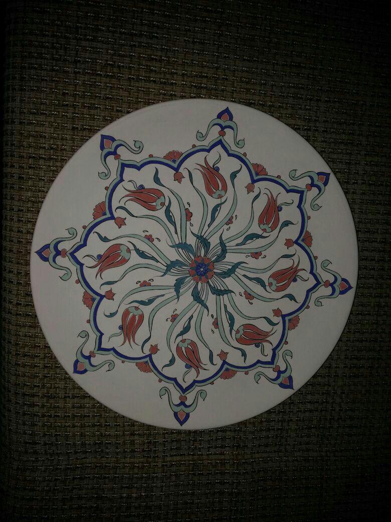 Begum Adli Kullanicinin Kurs Alinti Panosundaki Pin Desenler Tezhip Tabak