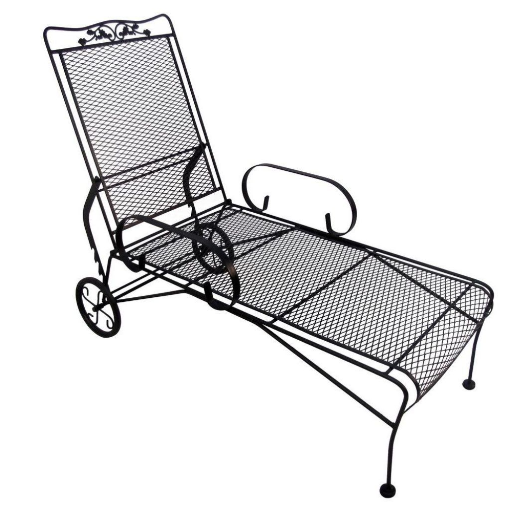 Wrought Iron Chaise Lounge Chairs Outdoor Lounge Chair Outdoor