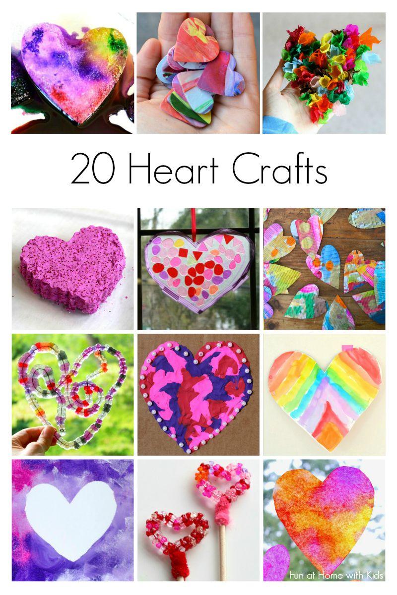 20 Heart Crafts For Kids New Teachers Heart Crafts Valentine