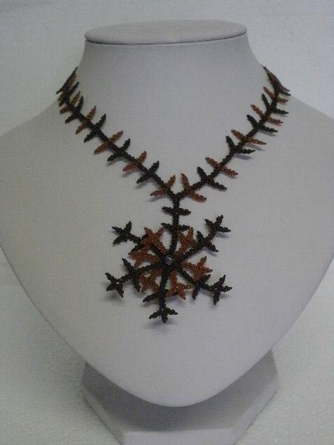 collana seta fiocco di neve - silk snow flake necklace