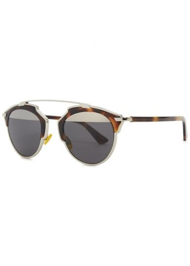 b026770a67 Christian Dior Dior So Real clubmaster style sunglasses