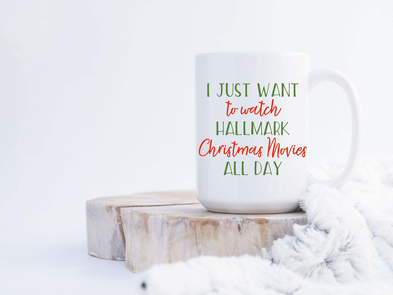 Custom Christmas Movie Watching Mug, This is my hallmark mug, Funny ...