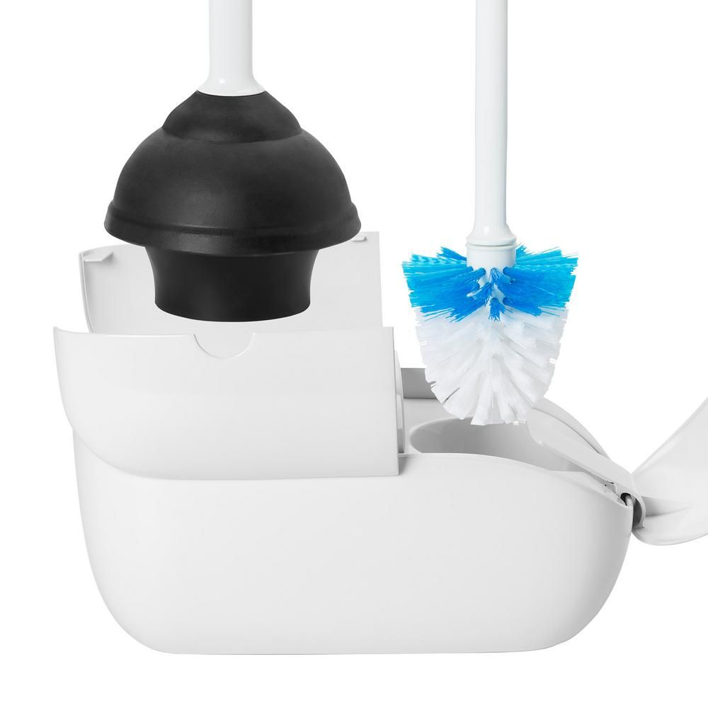 Oxo Good Grips Toilet Brush And Plunger Combo Set In White
