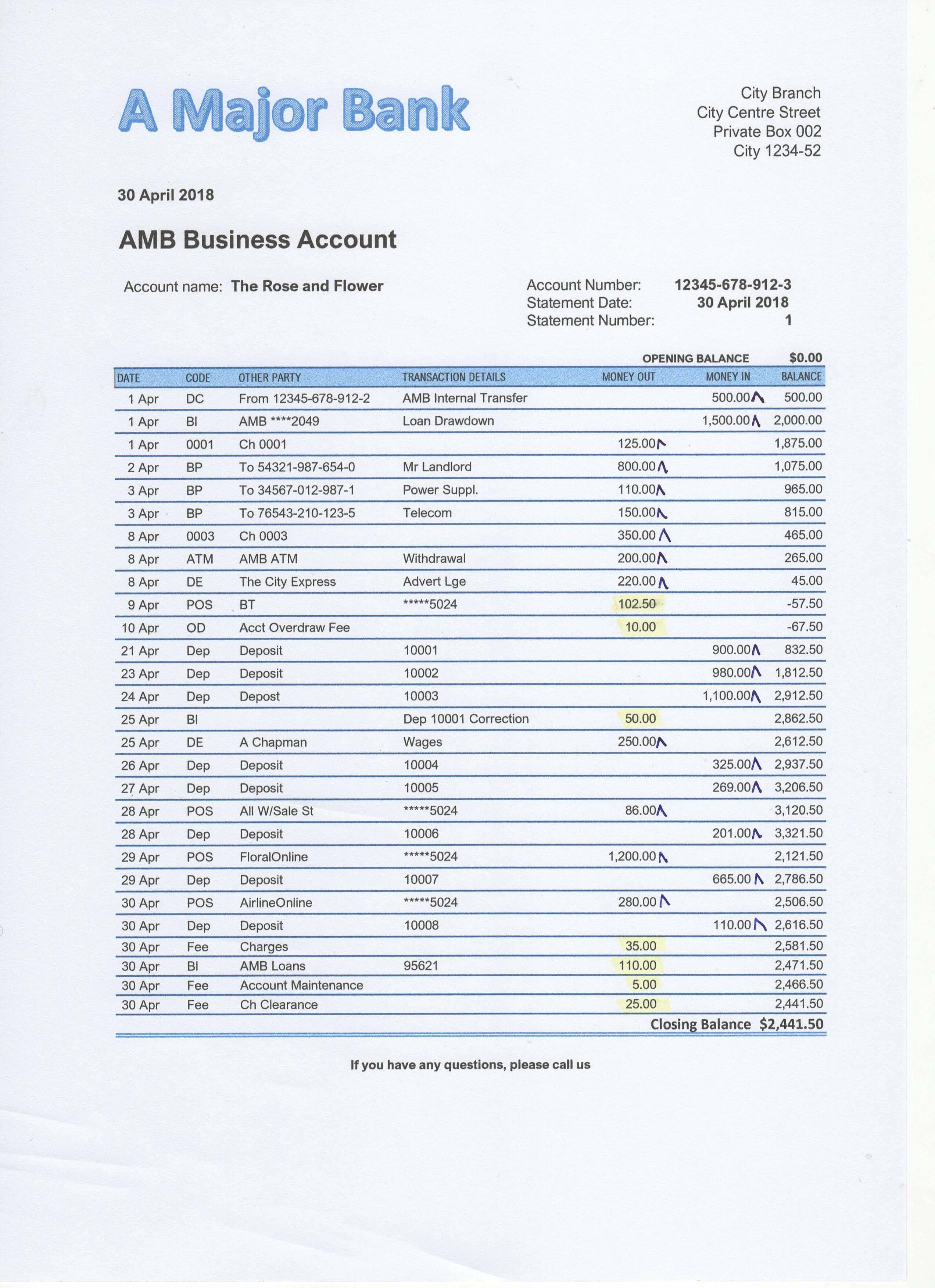 Bank Statement Reconciliation Template Beautiful Bank ...