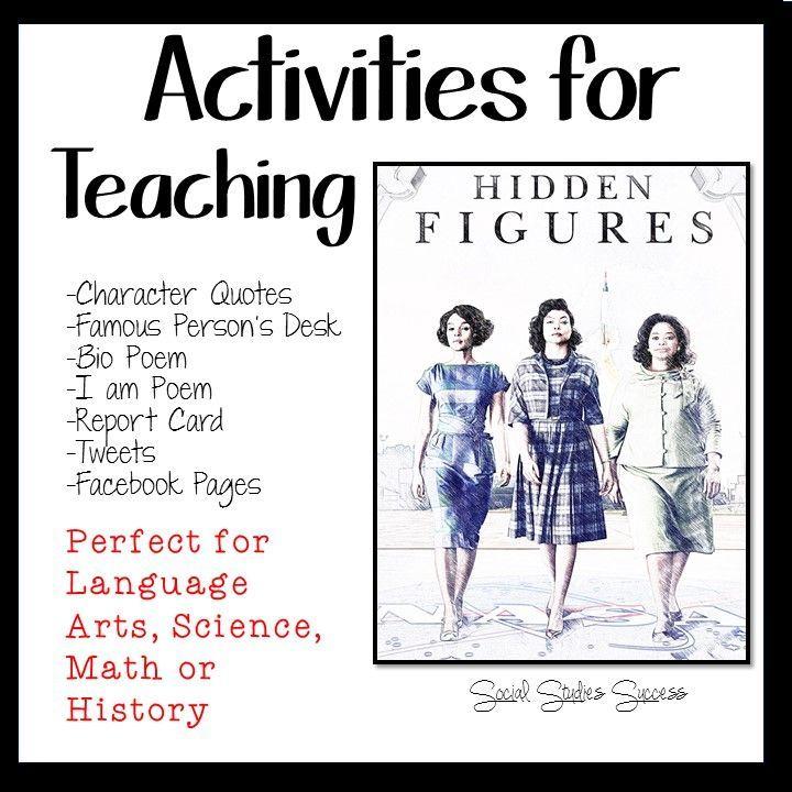 activities for teaching hidden figures social studies success high school classroom. Black Bedroom Furniture Sets. Home Design Ideas