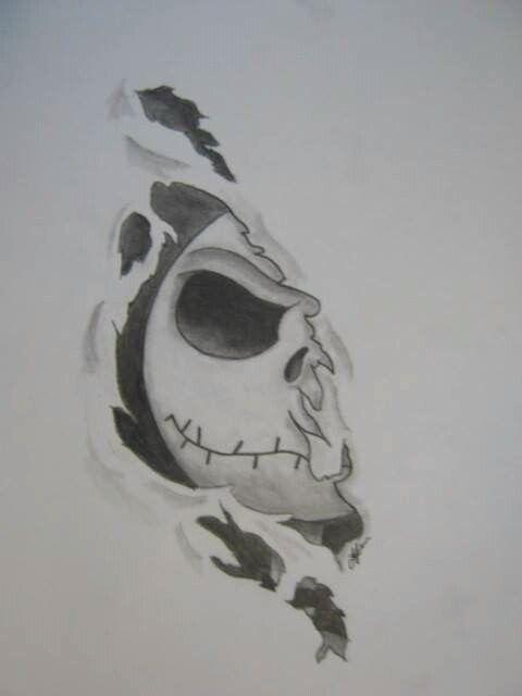 Jack Skellington Tattoo Idea Drawings Pinterest Kresby