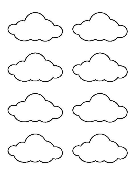 Crazy image regarding printable cloud template