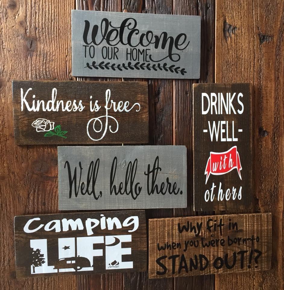 Custom Wooden Signs Wood Vinyl