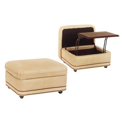Hancock And Moore 2032so Austin Storage Ottoman Available