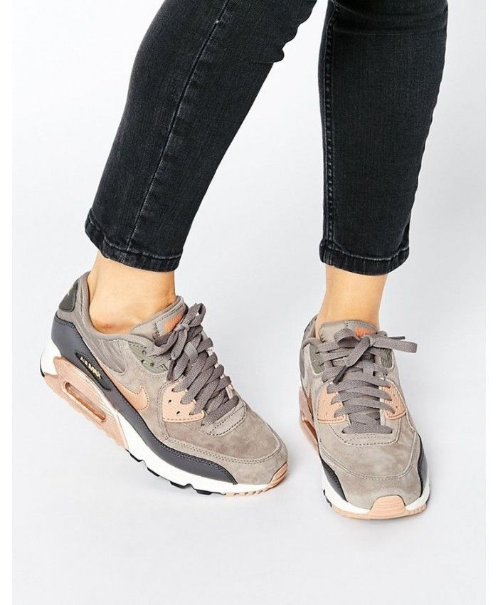 buy popular 27015 391af Nike Air Max 90 Leather Womens Iron Metallic Red Bronze Sail Trainers Sale  UK