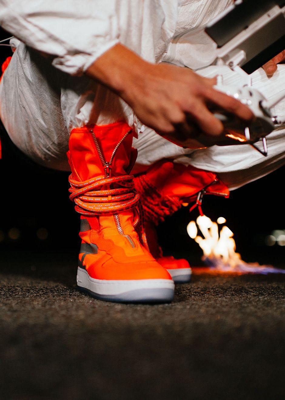 Nike SF AF1 High Total Orange AA1128 800 | Nike sf af1, Nike