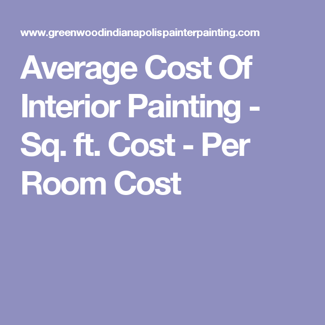Average Cost Of Interior Painting
