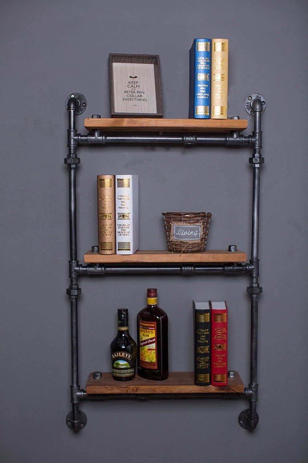 Amazoncom Find Joy Vintage Wood Wall Mount Shelf Separators